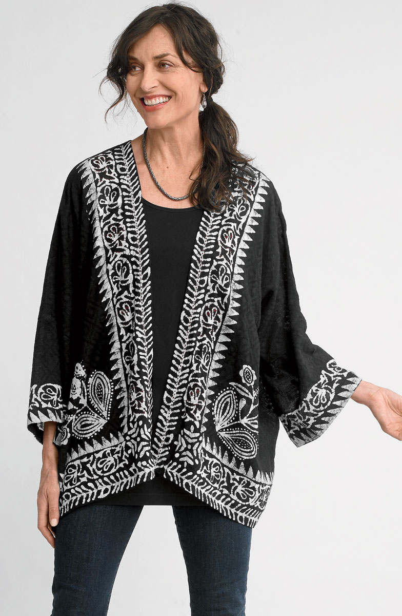 Sunita Jacket - Black/white