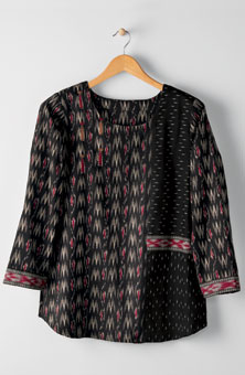 Divya Top - Black/ruby