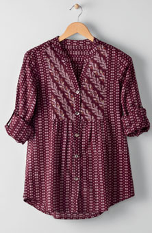 Latika Shirt - Plum