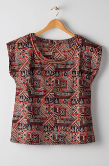 Tivisha Top - Sage/multi