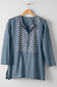 Sowmya Top - Slate blue