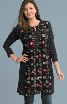 Pranita Kurta - Black/multi