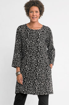 Neerja Tunic - Black/natural