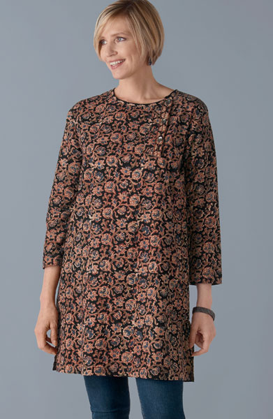 Halima Kurta - Black/multi