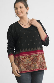 Simran Top - Black/red