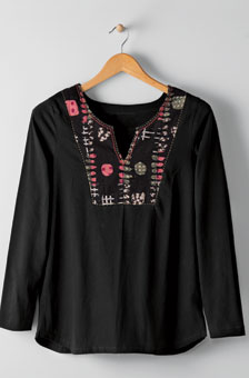 Sarita Top - Black/multi