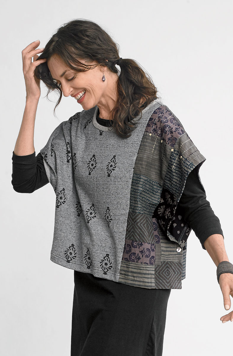 Geetha Poncho - Heather grey