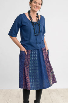 Leena Skirt - Lapis/multi