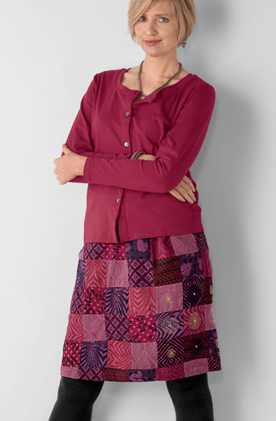 Sreela Skirt - Ruby