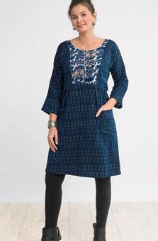 Nasreen Dress - Lapis