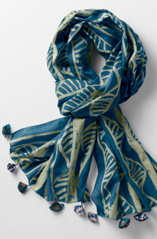 Batik Scarf - Blue/green