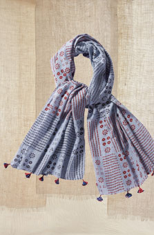 Scarf - Blue/multi