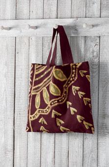 Batik Tote - Plum