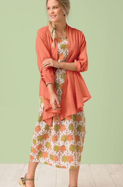 Sakina Jacket - Coral