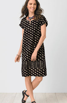 Gauri Dress - Black/natural