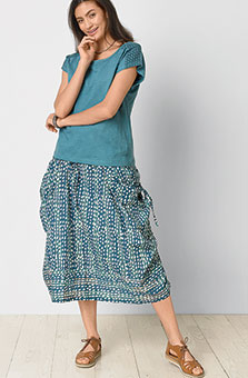Rajwa Skirt - Lake