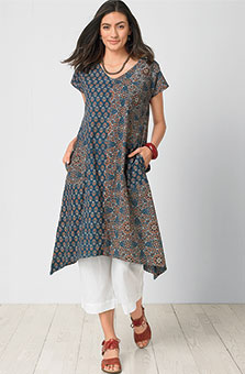Shefali Dress - Indigo