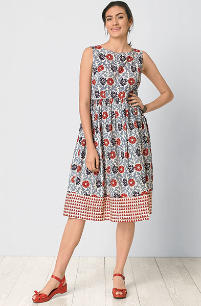 Radhika Dress - Cherry