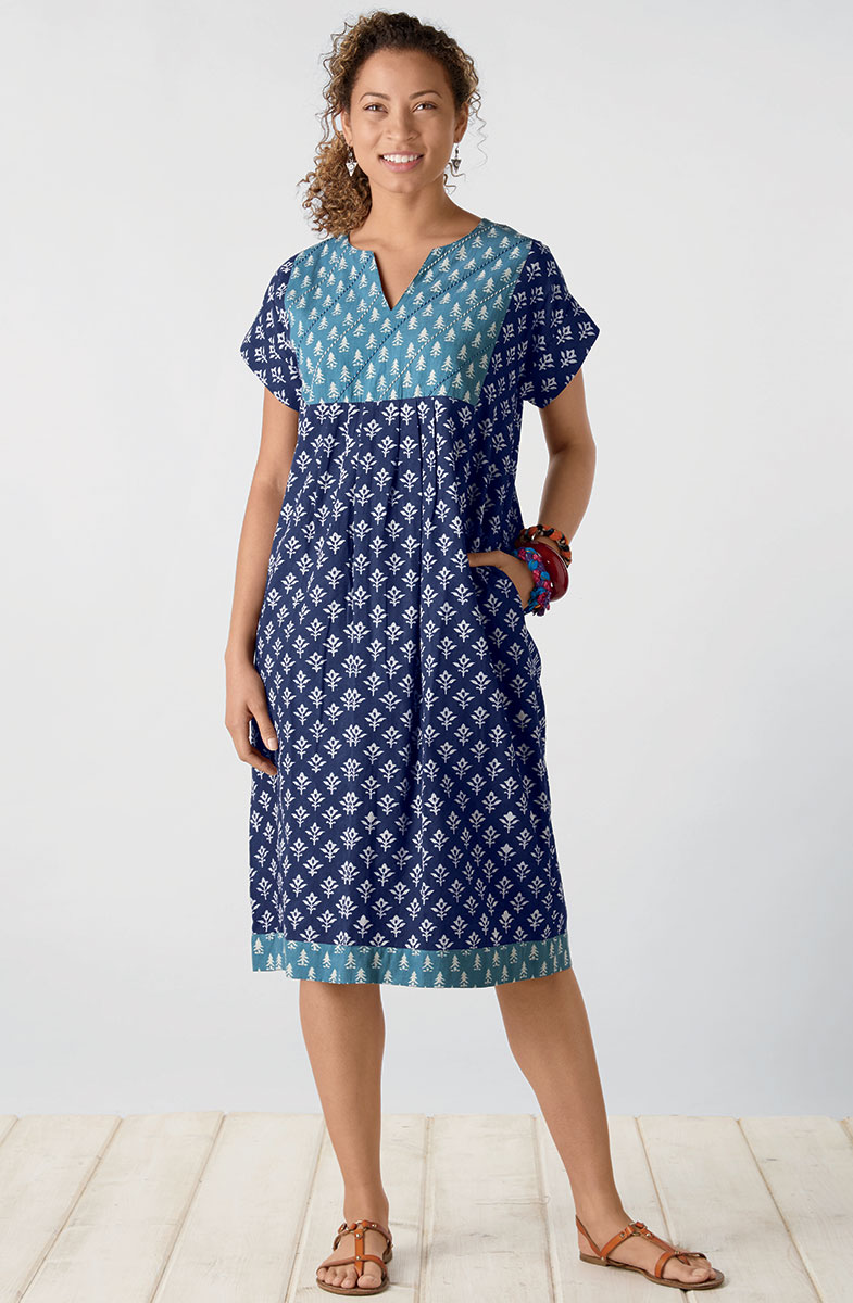 Mahika Dress - Indigo