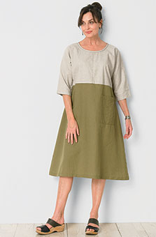 Kanushi Dress - Flax/Olive