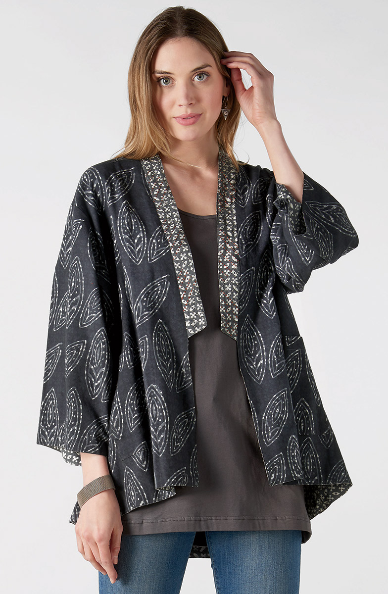 Reversible Vashi Jacket - Pewter