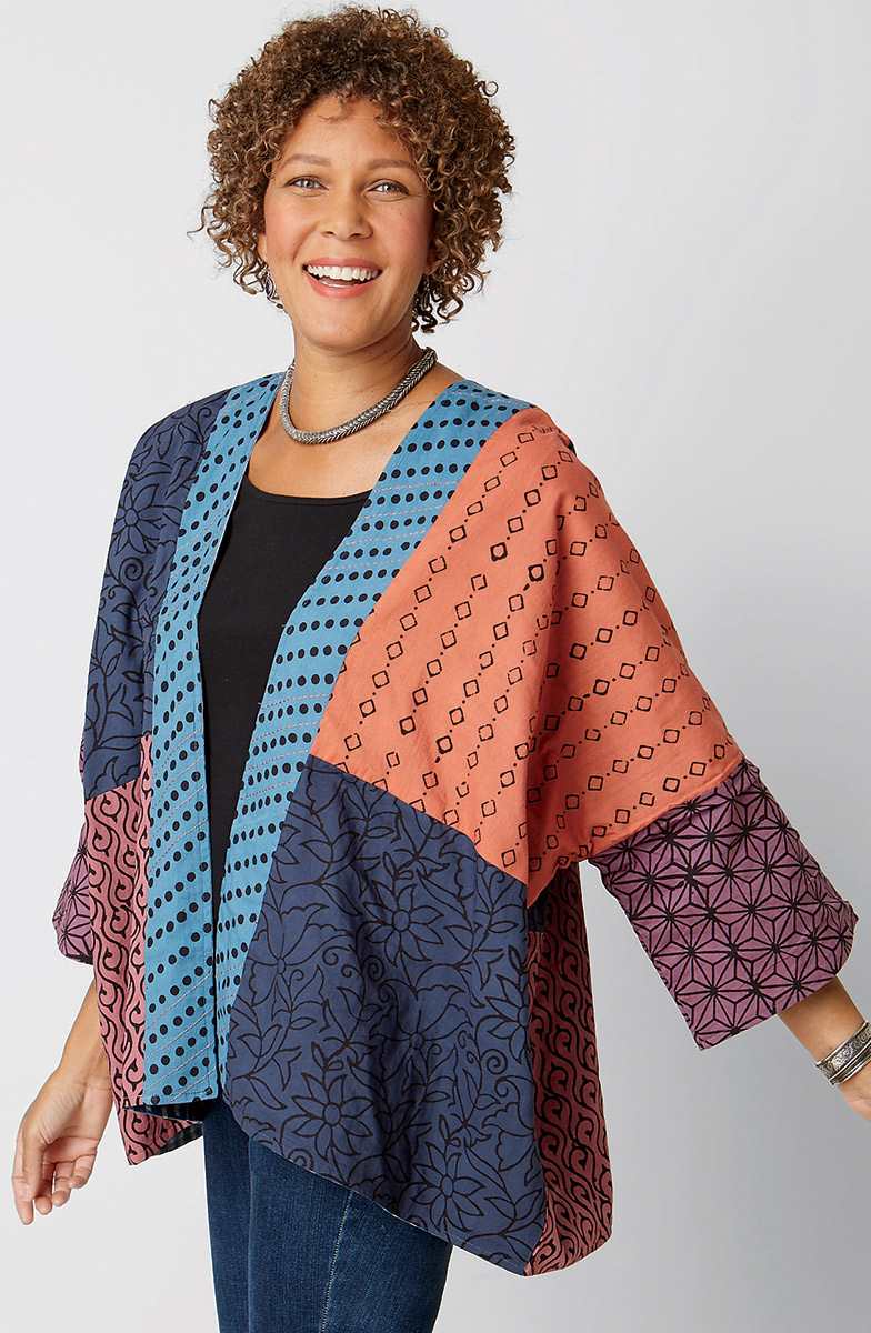 Reversible Sunita Jacket - Teal multi