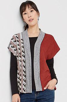 Naina Vest - Heather brick grey