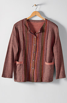 Arushi Jacket - Heather rosewood