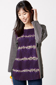Divya Top - Purple/grey