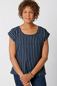Tivisha Top - Blue stripe