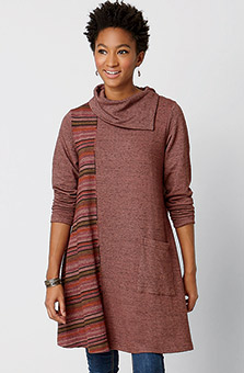 Jamuna Tunic - Heather rosewood