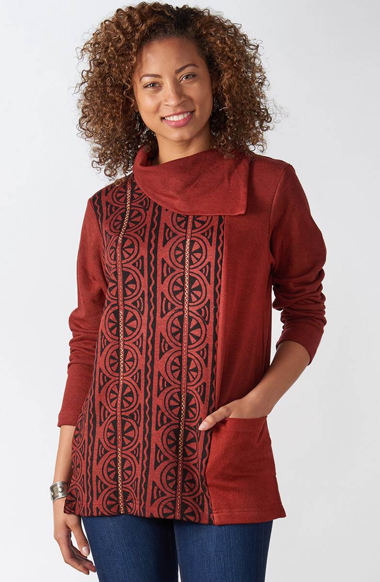 Piya Top - Heather brick