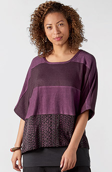 Amboli Tee - Heather purple