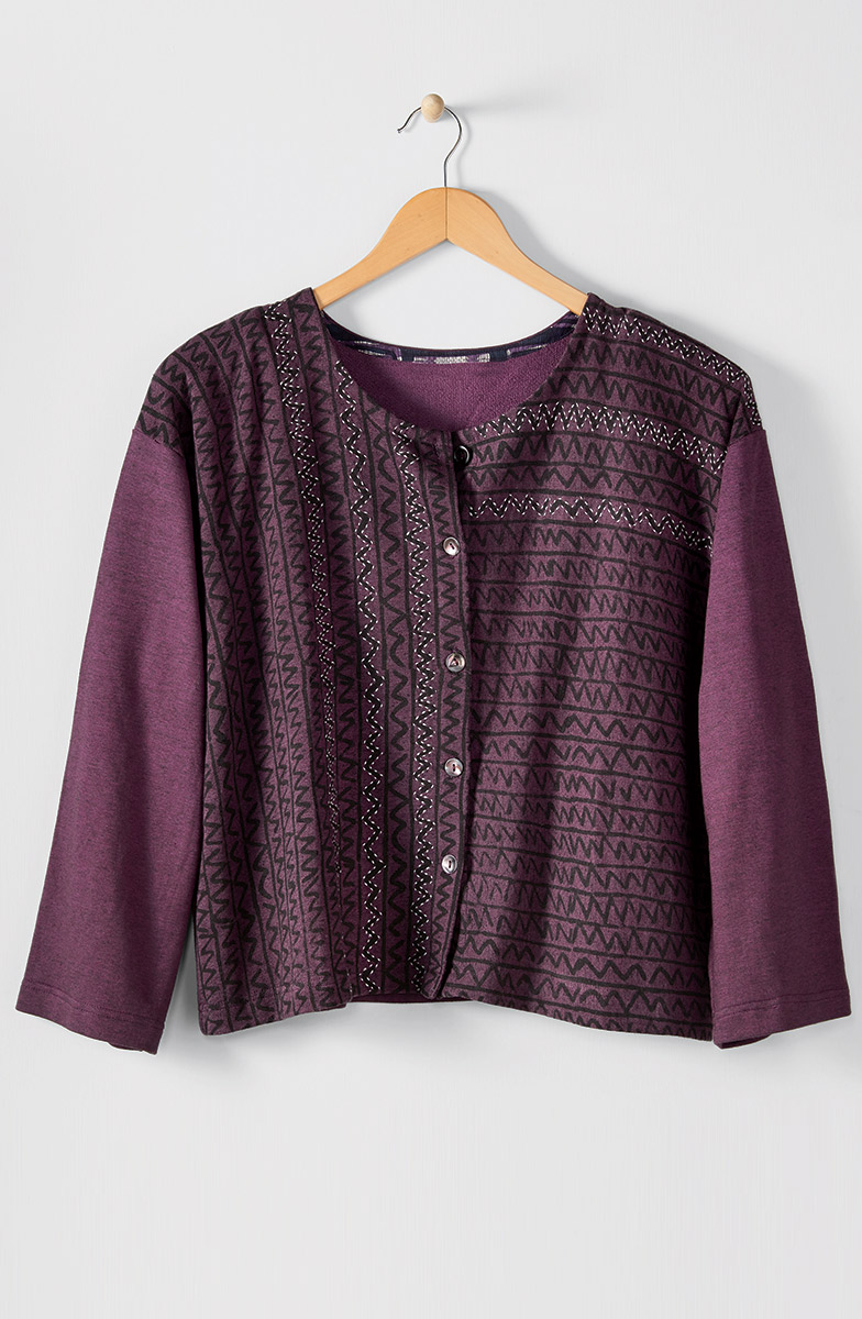 Mysore Top - Heather purple