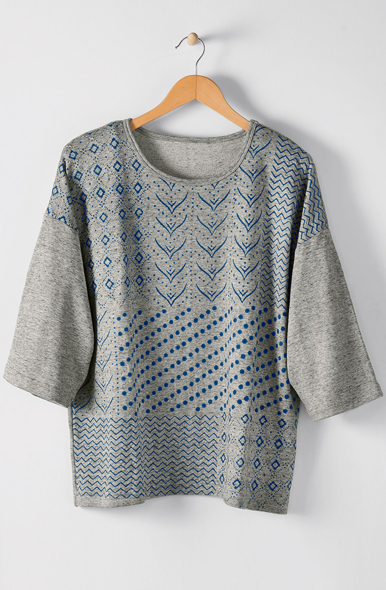 Nitika Top - Heather grey