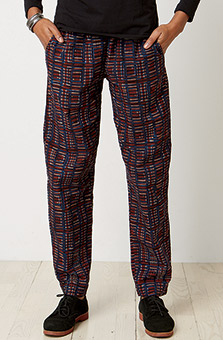 Long Kavya Pant - Burgundy
