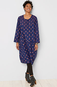 Parola Dress - Bright navy