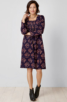 Amina Dress - Navy