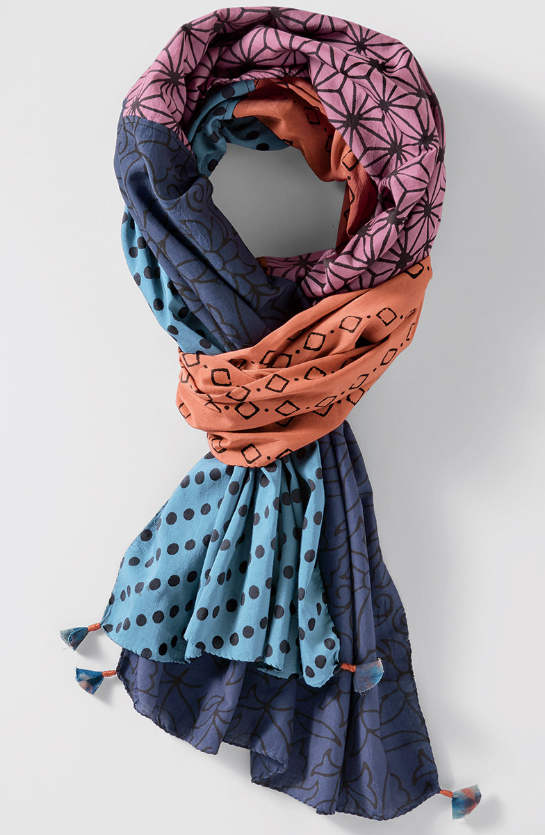 Cotton-Silk Scarf - Multi
