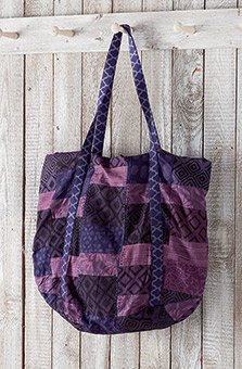 Patchwork Tote - Purple