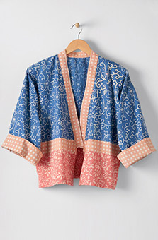 Sikkim Jacket - Chambray blue Multi