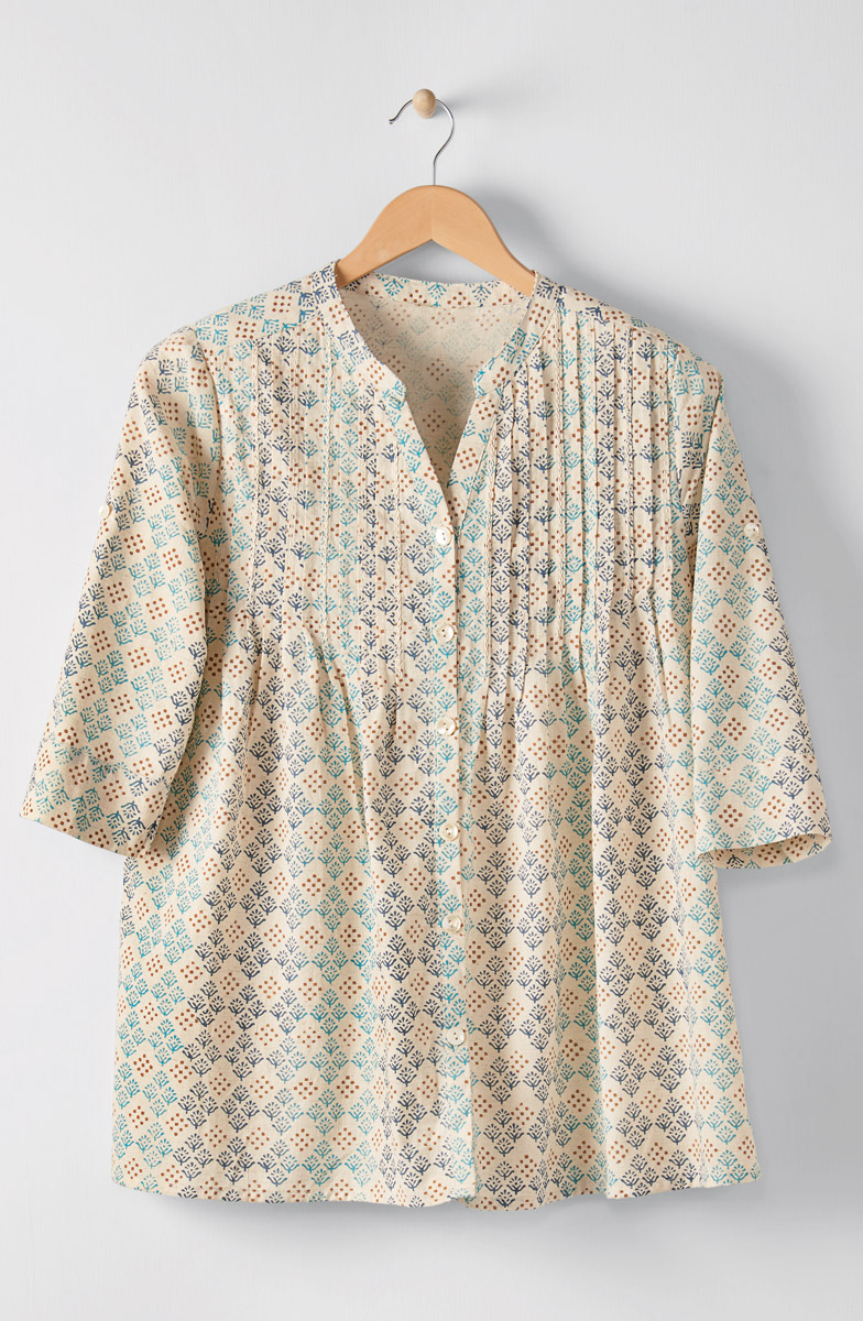 Vaishali Tunic - Natural Multi