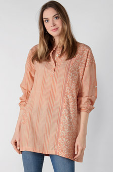 Kimaya Shirt - Sunset peach