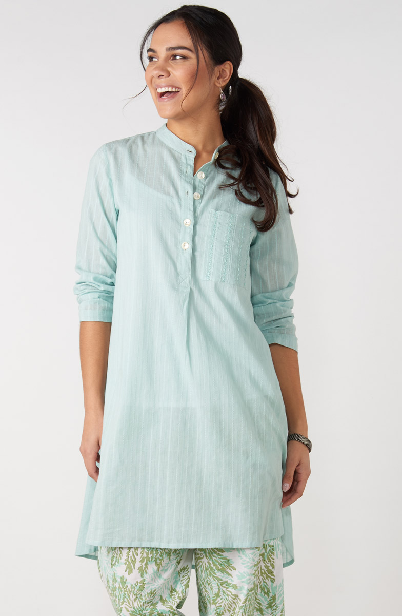 Sonam Long Shirt - Mint julep