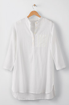 Sonam Long Shirt - White