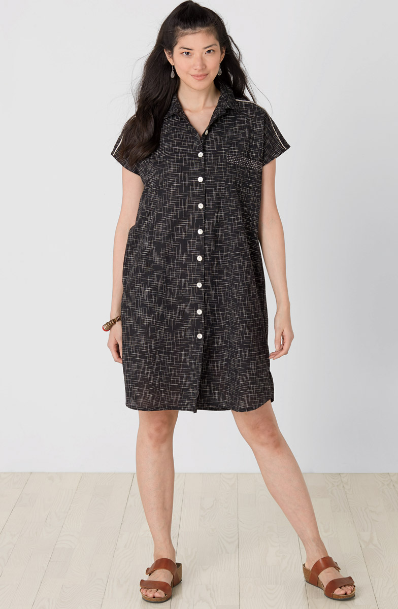 Long Adira Shirt - Black