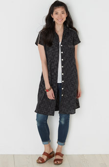 Long Adira Shirt - Black