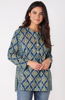 Sowmya Tunic - Teal