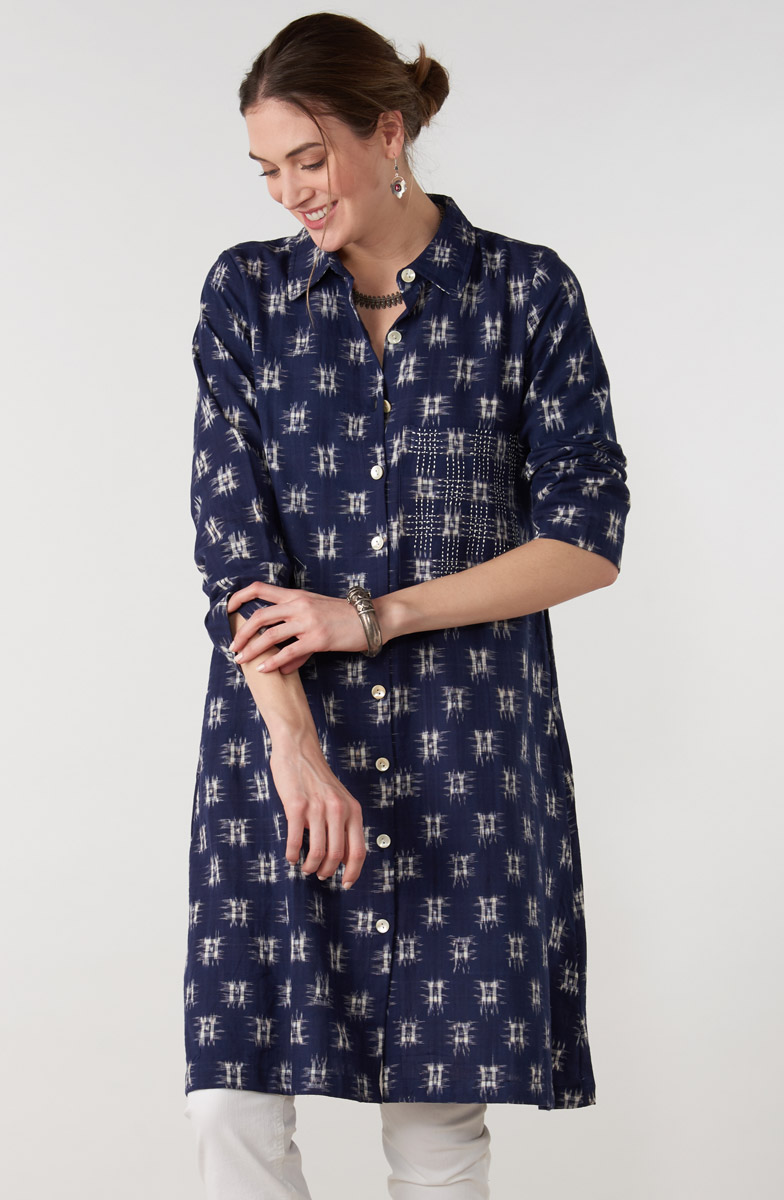 Nahila Tunic - Blue