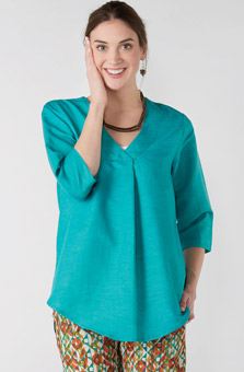 Sneha Tunic - Bright teal